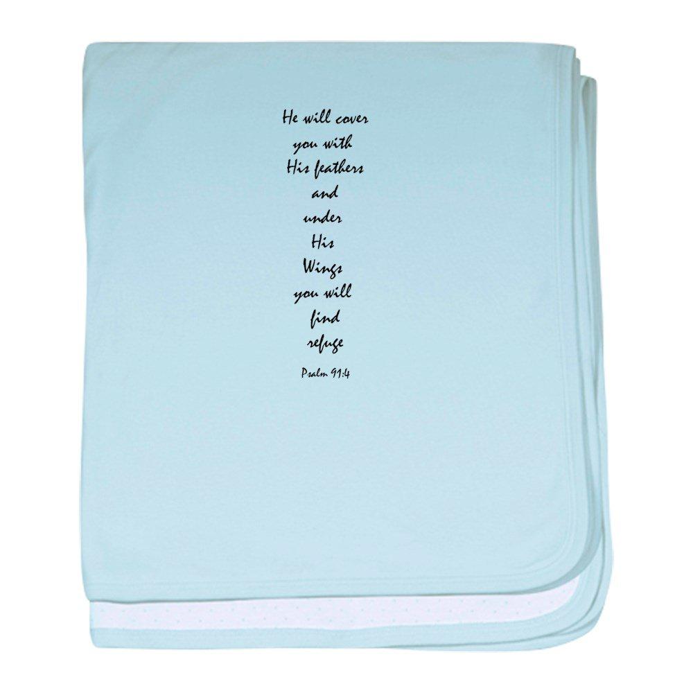 CafePress - Psalm 91:4 ''Wings'' - Baby Blanket, Super Soft Newborn Swaddle