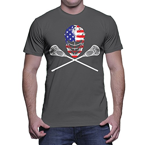 Lacrosse Helmet Crossed Sticks T shirt