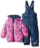 Pink Platinum Baby Girls Floral Jacket Print Snowsuit, Knock Out Pink, 12M