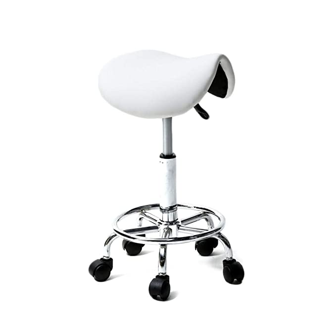 Amazon.com: Ksruee Saddle Stool Ha Ha Feet Rotation Bar ...