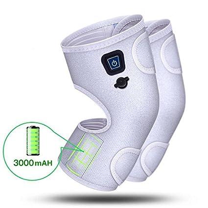 Almohadilla electrica calor rodilla recargable con función de moxibustión, 3 niveles de temperatura