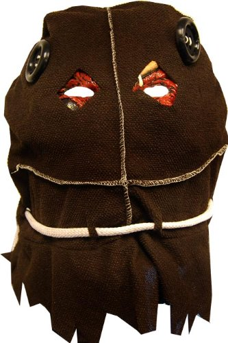 Rubie's Costume Deluxe Trick R' Treat Mask Burlap Sack, Brown, One (Scarecrow Deluxe Latex Mask)