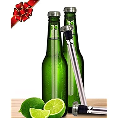 Cool One Beer Chiller - Beverage Cooling Sticks - Keep Your Beers Cold Longer With Beer Coolers! Unique Father's Day & Christmas Gifts For Dad! (Gift Set Of 2 Coolers)