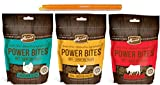 power bites - Merrick Power Bites Grain Free Soft Training Treats 3 Flavor Variety Bundle: (1) Beef, (1) Chicken, & (1) Turducken (3 Bags Total, 6 Ounces Each) Plus 9-Inch Gripstic Bag Sealing Rod - 4 Items Total