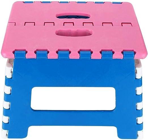 Rockyin Escalera Plegable de plástico heces Silla portátil de Zapatos Silla Pequeño Engrosamiento (Presidente Superficie Rosada): Amazon.es: Jardín