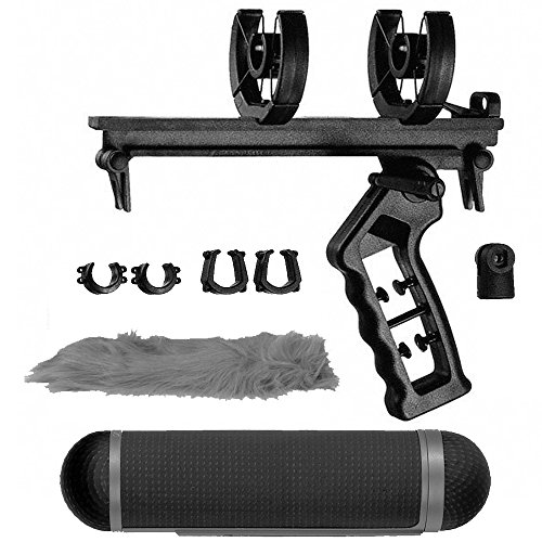 Sennheiser MZS 20-1 Shockmount/Pistol Grip w/ MZW 60-1 Blimp & MZH 60-1 Windscreen Bundle