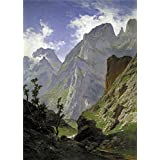 Canvas Prints Of Oil Painting ' Haes Carlos De Mancorbo Canal In Picos De Europa 1876 ' , 18 x 25 inch / 46 x 64 cm , Polyster Canvas Is For Gifts And Home Office, Kids Room And Powder Room Decoration