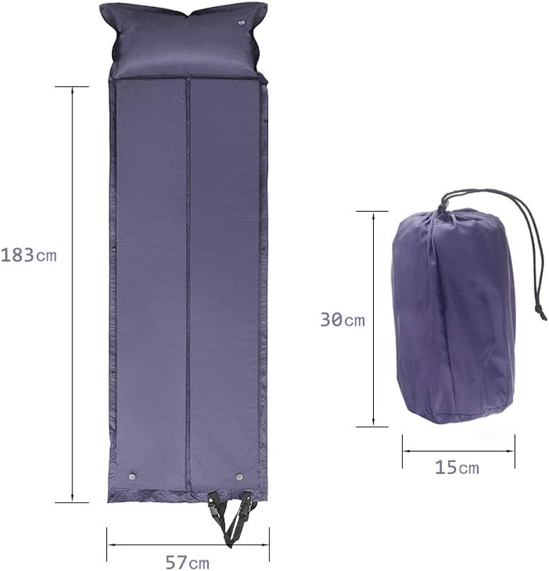 Athyior Ultraligero Esterillas Camping Autoinflable Auto-Hinchable Colch/ón con Almohada Aire Libre Port/átil Dormir Colchoneta Inflable Espuma C/ómodo Impermeable para Acampada Senderismo Playa