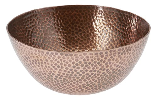 Thirstystone N372 Urban Farm Large Round Hammered Antique Copper Finish Bowl, Antique Copper Hammered Kitchen