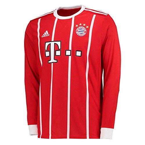 (adidas 2017-2018 Bayern Munich Home Long Sleeve Football Soccer T-Shirt Jersey)