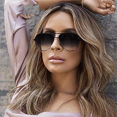 NEW Pilot Sunglasses Women Vintage Flat Top Sun Glasses Pink Black Gradient Shades UV400 OM739