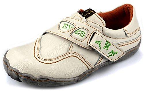 TMA Leder Damenschuhe Halbschuhe Slipper Comfort Schuhe 1901 Weiß / Beige