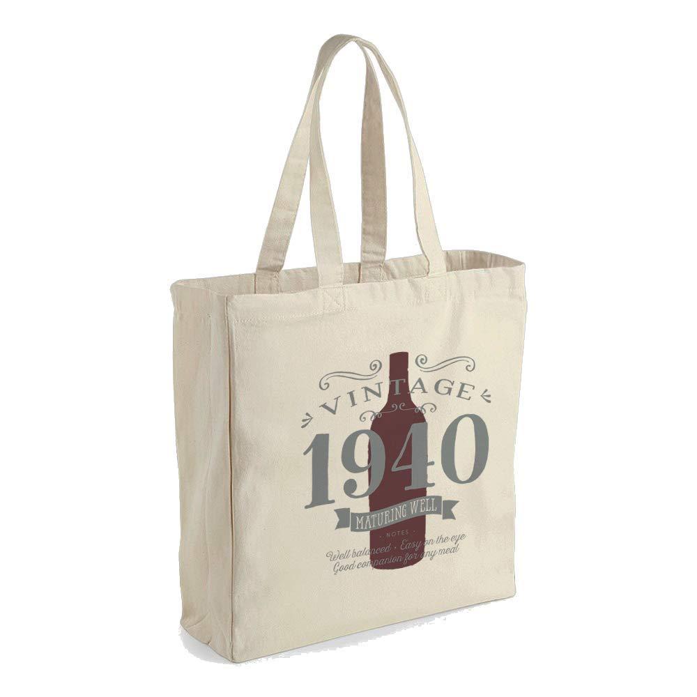 80th Birthday Gift Bag Funny Keepsake for Women Novelty Shopping Tote