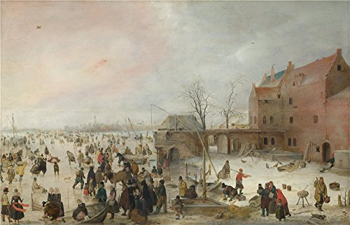 Oil Painting 'Hendrick Avercamp A Scene On The Ice Near A Town', 18 x 28 inch / 46 x 71 cm , on High Definition HD canvas prints is for - Town Westland Center