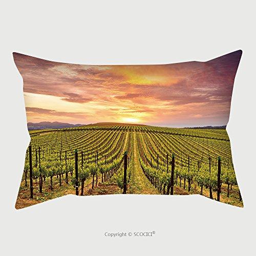 Custom Microfiber Pillowcase Protector Napa Valley Vineyards Autumn Sunrise 410249041 Pillow Case Covers Decorative (Bath Napa Ny)