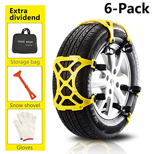 TuhooMall Car Snow Chains Anti-Skid Snow Mud Adjustable Car