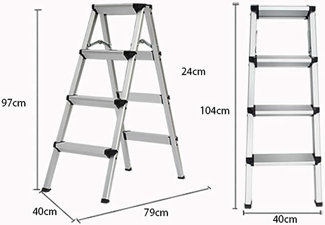 ZM&Taburete Escabel Escalera En Espiga Escalera Plegable De Aluminio Grueso Taburete Multifunción En Casa Escalera Pequeña En Rack (Size : 40x79x97cm): Amazon.es: Hogar