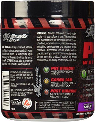 BlueBonnet Extreme Edge Pre Workout Powder, Vigorous Grape, 0.66 Pound