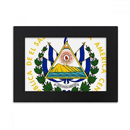 DIYthinker San Salvador El Salvador National Emblem Desktop Photo Frame Black Picture Art Painting 5x7 inch