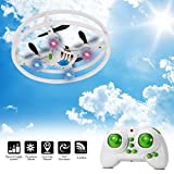 Super Durable Nano Drone Space Trek UFO RC Quadcopter 2.4GHz 4 Axis Gyro RC Aircraft Protective Bull bars Mini Helicopter for Beginners/Children with 3D Flip Flash Light by WildGrow