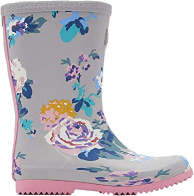 Joules Girls Printed Wellie Boots in BLUE LARGE FLORAL