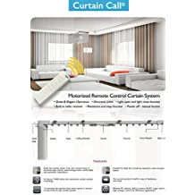 Electric Remote Controlled Drapery System W/10' Track Center Opening & Wall Mount Brackets CL-920A by Curtain Call