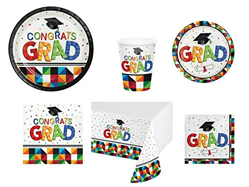 Graduation Paper Products - Graduation Party Supplies for 18 Guests