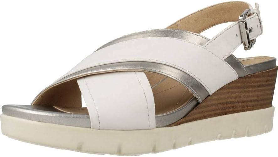 Geox D928AB 085NF Sandalo Zeppa Donna: Amazon.it: Scarpe e borse