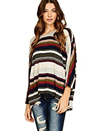 Annabelle Women's Comfy Oversized Long Sleeve Batwing Dolman Pullover Shirt Tops