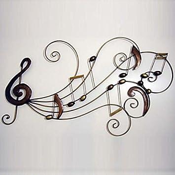Lookshop décoration murale de style rustique en forme notes de musique