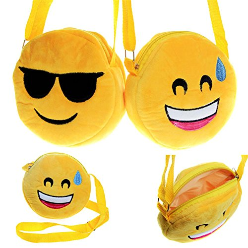 Genuiskids Lovely Emoji Change Bag Coin Purse Wallet Emoji Face Mini Purse (Coin Smile Purse Face)
