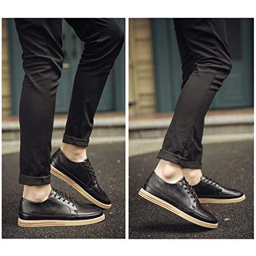 Chaussures Hommes Noir Noir CN44 d'automne Noir UK9 De de en Chaussures pour YiWu Couleur Chaussures Jeunes Planche Sport Cuir Chaussures Loisirs EU43 Size F7qdFwE