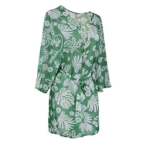 D Vert Kimono Respirante Douce Dolity En Bikini Blouse Casual Vocation Dress Top Femmes Mousseline rqrEaOwHx