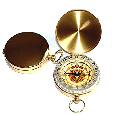 1 X Geology Pocket Brass Watch Style Luminous Compass for Navigation Hiking Camping