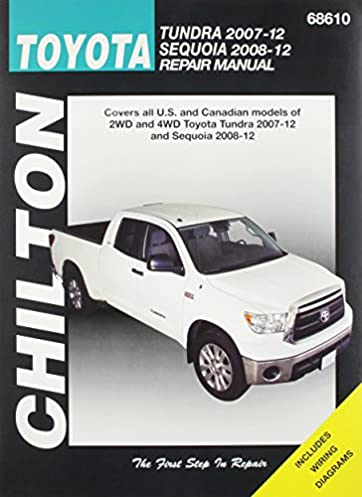 chilton total car care toyota tundra 2007 2012 sequoia 2008 2012 rh amazon com 2005 toyota sequoia service manual 2008 toyota sequoia service manual pdf