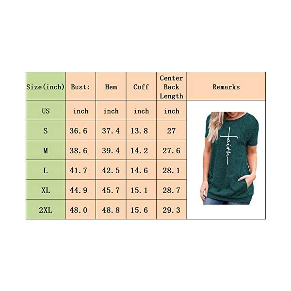 Mansy Womens Summer Short Sleeve Tops Causal Loose Letter Print T Shirt Tunics with Pocket Round Neck
