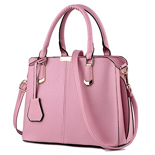 Handle Purse Bags Purse Tote and FiveloveTwo Womens Satchel Shoulder Top Handbag Pink YwCBFqBx