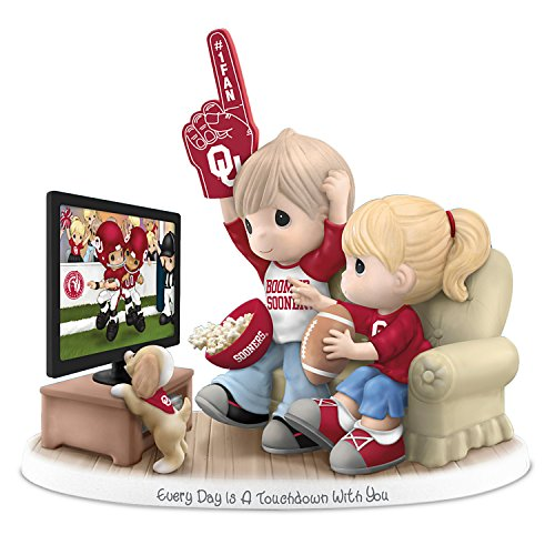 Oklahoma Sooners Figurine (Every Day Is A Touchdown With You Oklahoma Sooners Precious Moments Figurine by The Hamilton Collection)