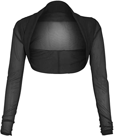 Black Mesh Open Front Cropped Sweater XS S M L XL 2XL 3XL sheer cardigan crop top drape front gothic
