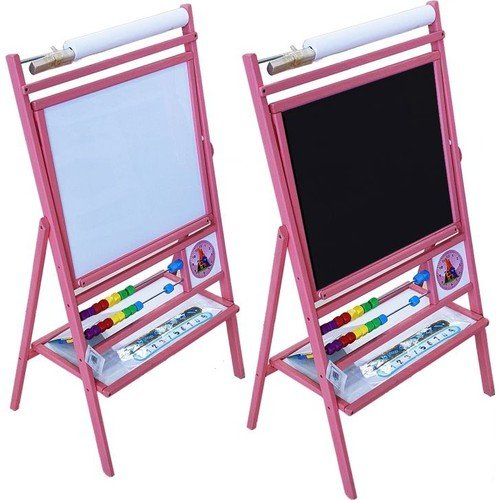 Serra Baby Writing Board holder with a wooden Pink by Serra Baby