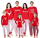 SleepytimePjs Family Matching Sleepwear Knit Holiday Mix and Match Pajamas PJs Collection (STM-3039-K-3105-4)