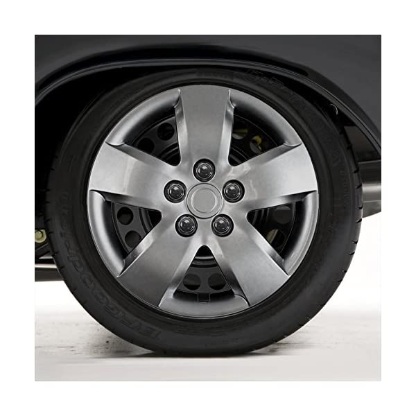 Upgrade-Your-Auto-Set-of-Four-16-Silver-Hubcap-Wheel-Covers-for-2007-2008-Nissan-Altima-Bolt-on