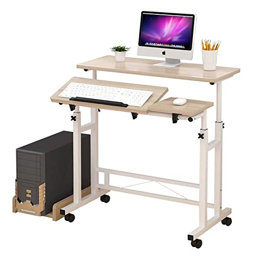 GL-Computer Desk Mesa Plegable Mesa portátil giratoria de 360º ...