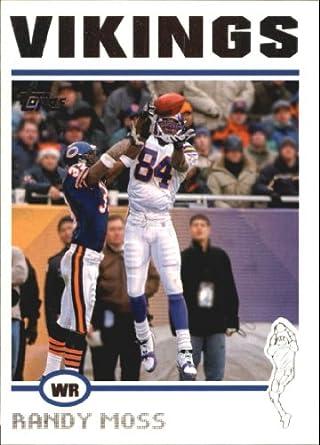 Amazon.com  2004 Topps Football Card  140 Randy Moss Near Mint Mint   Collectibles   Fine Art 3116e87cf