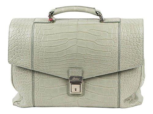 brioni-gray-crocodile-leather-large-duffle-boston-bag