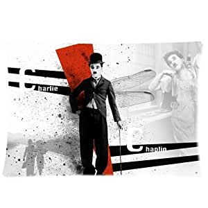 At-Baby Charlie Chaplin Bedding Home Decoration Custom Zippered Pillow Cases 20x30 (Twin sides)