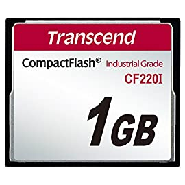 Transcend 1GB Industrial Temperature Range CF220I 220X Ultra CompactFlash (SLC) 4 Industrial range CF CompactFlash memory card - temperature range: -40°C to +85°C Built using ultra-reliable SLC NAND Flash chips Read speed up to 20MB/sec - write speed up to 13MB/sec