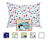 Little Sleepy Head Youth Pillowcase - 16 X 22 - 100% Cotton - Made in USA (Tiaras)