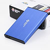 MasterStor 1 Year Warranty 250GB Portable Hard Drive USB 3.0 SATA Super-Fast 2.5 inch Hard Drive for Laptop External Hard Disk Drive Blue