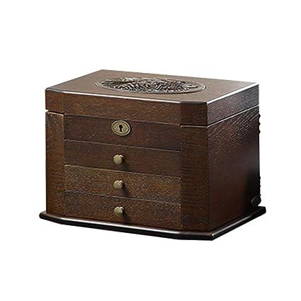 Joyero Chunlan Cajas de joyería de Madera de la Caja de joyería de la Caja cosmética